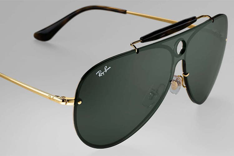 ray ban blaze shooters plastic top bar