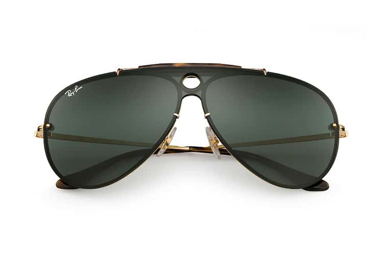 ray ban blaze shooters blue lens