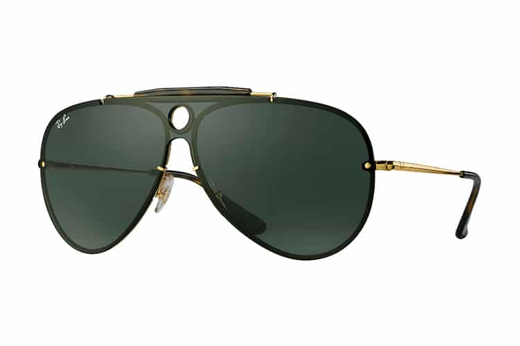 ray ban blaze shooters gold color handle
