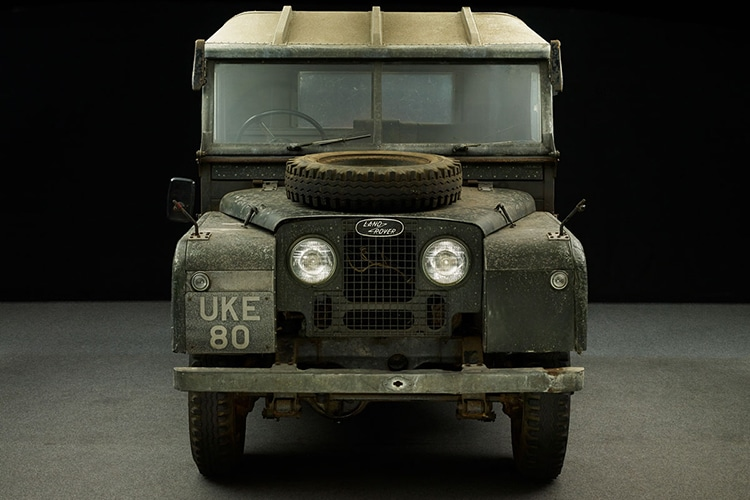 land rover car front side