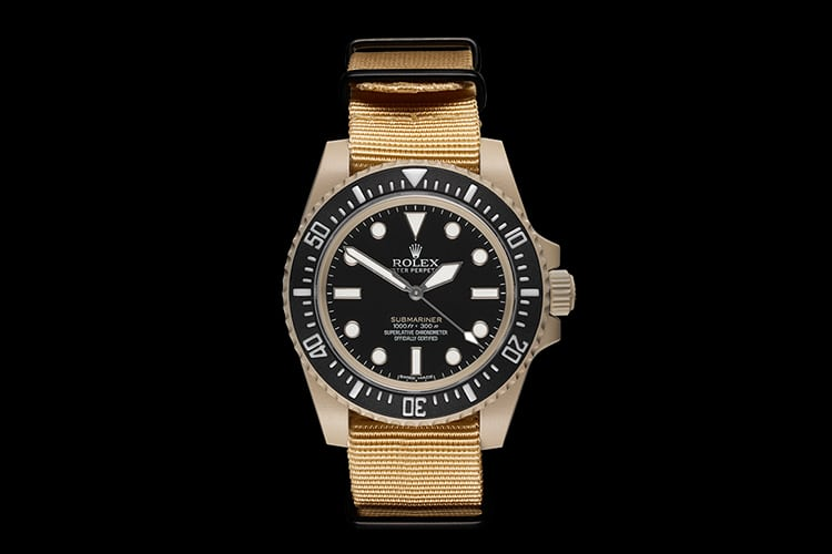 gold color rolex submariner watch