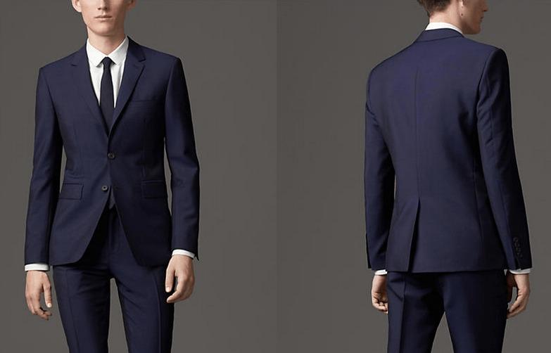 burberry london blue suit