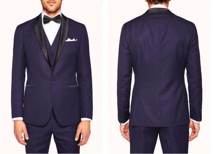 m j bale blue suit