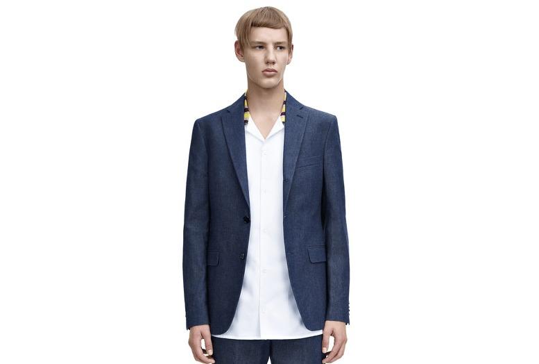 acne studios blue suit