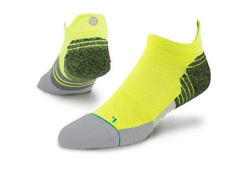 stance fusion run socks green