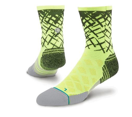 stance fusion run socks yellow back