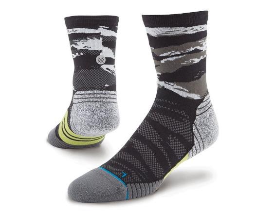 stance fusion run socks black