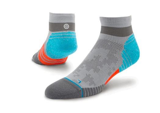 stance fusion run socks grey