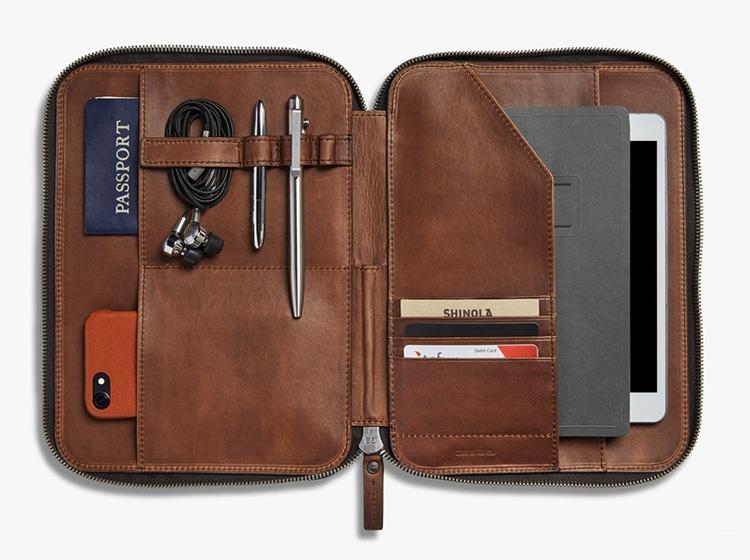 shinola tech portfolio gentleman carrying case