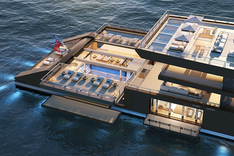sinot nature superyacht top side