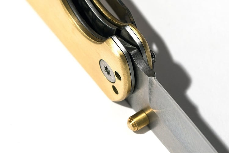 taylor stitch brass drop point pocket knife