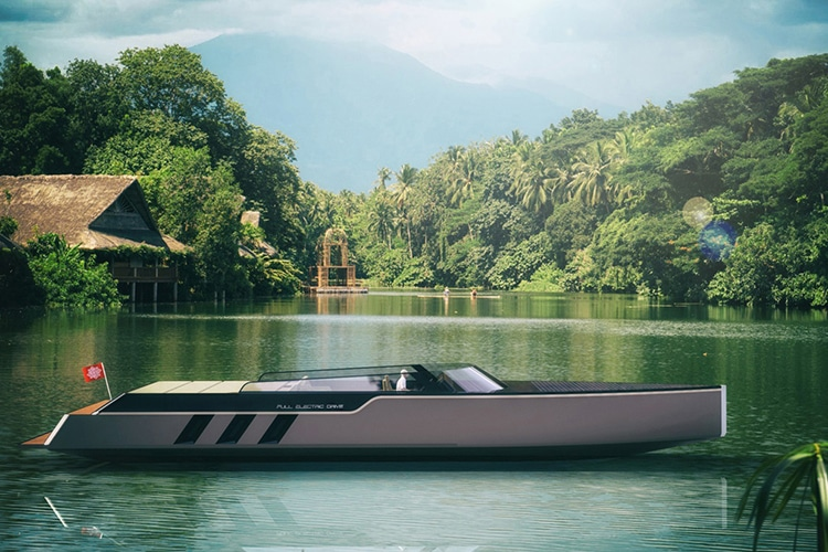 tesla e vision gt concept boat side view