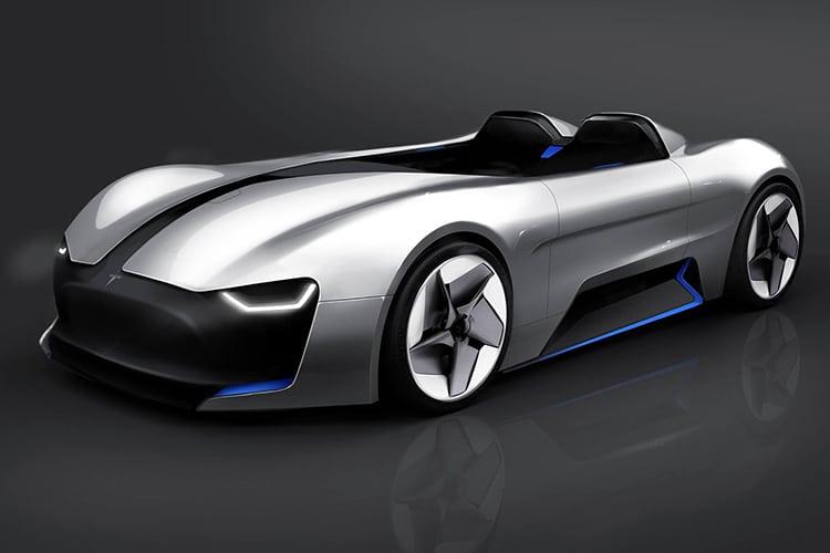 tesla roadster y car side