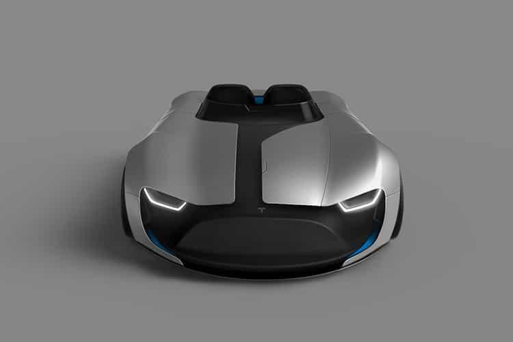 tesla roadster y car top
