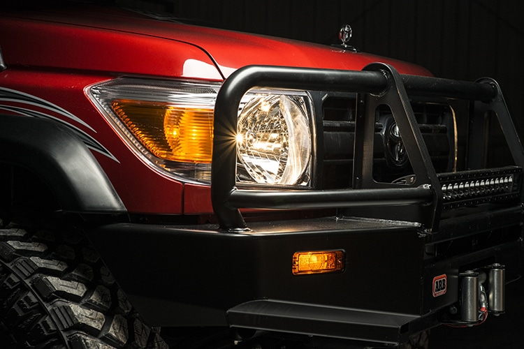 79 series landcruiser pickup front light