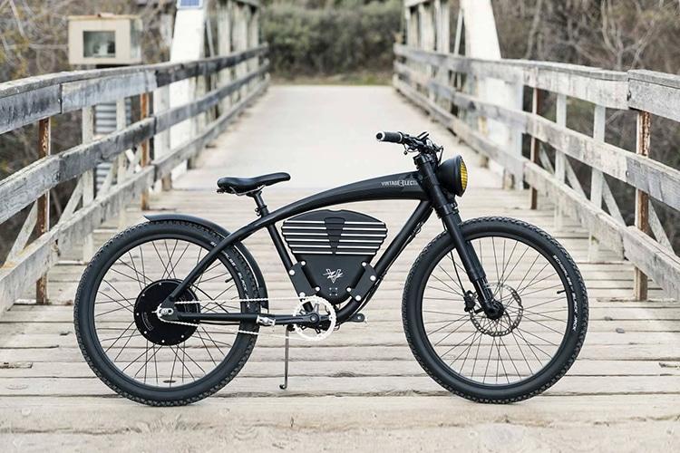vintage electric scrambler s bike