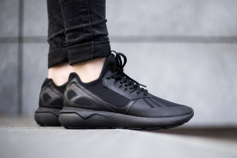 adidas tubular runner black sneakers