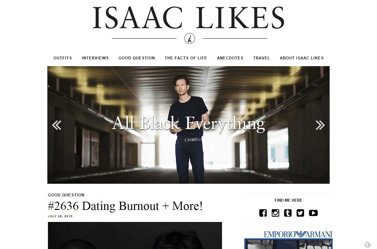 Isaac Likes Menswear Interviews Relationship Advice and Rants