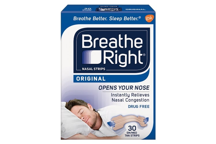 breathe right strips used better sleep