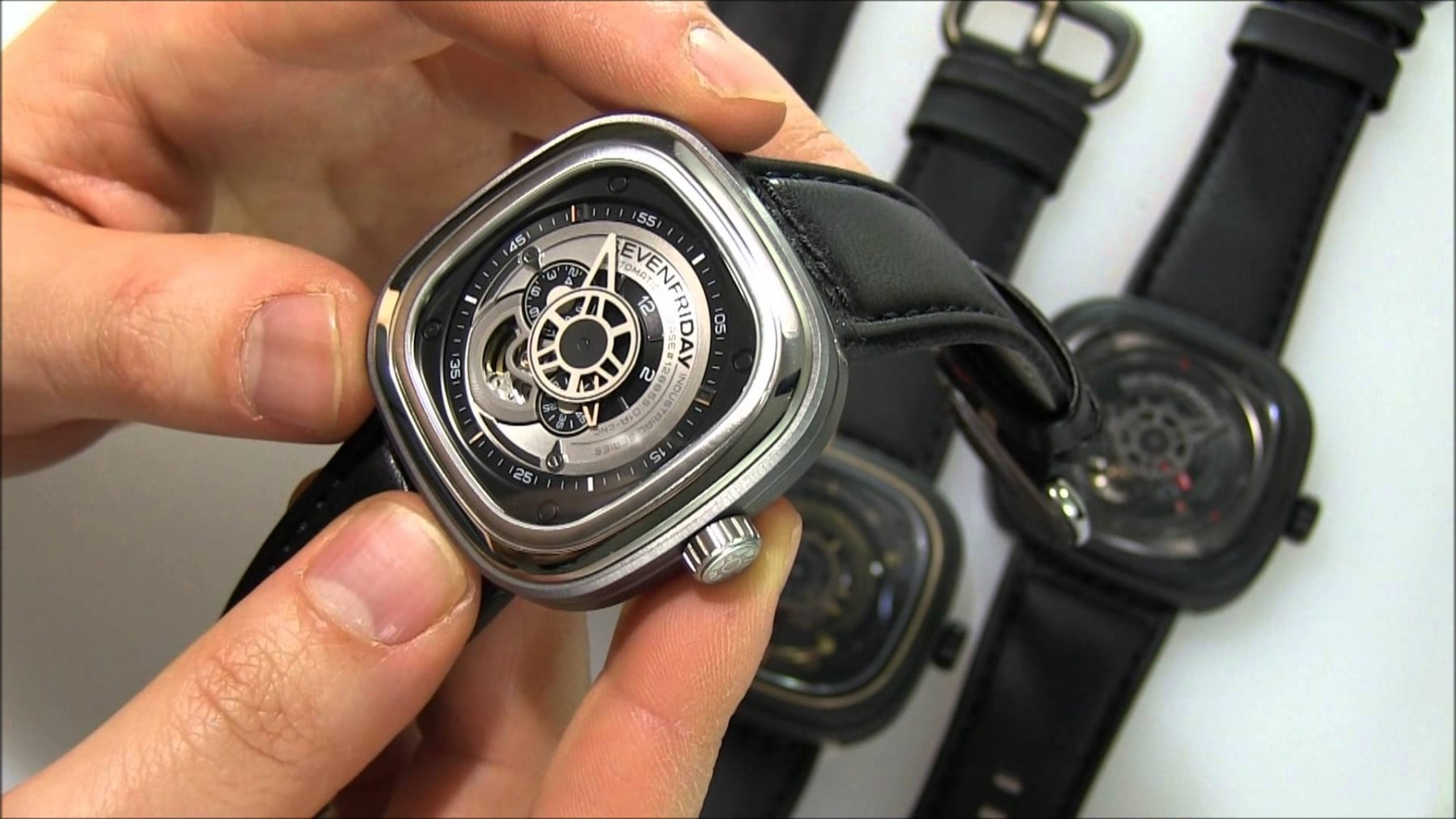 sevenfriday watch in the hand