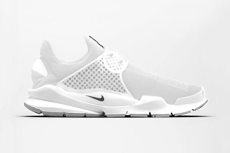 nike sock dart triple white sneakers
