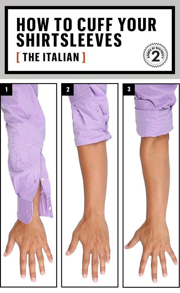 italian cuff shirt  sleeves