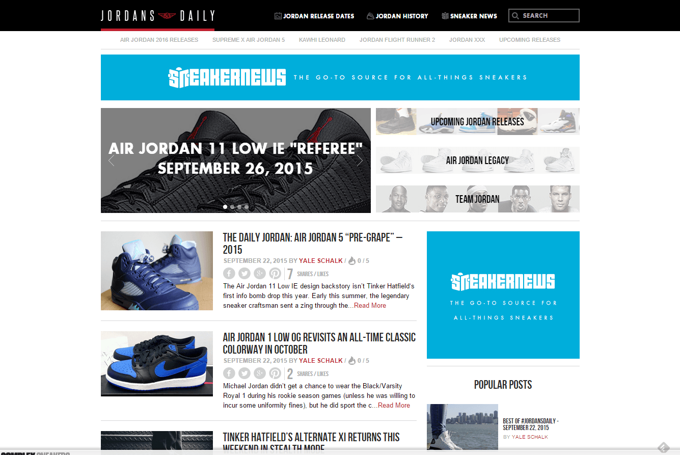 jordans daily blogs shoe
