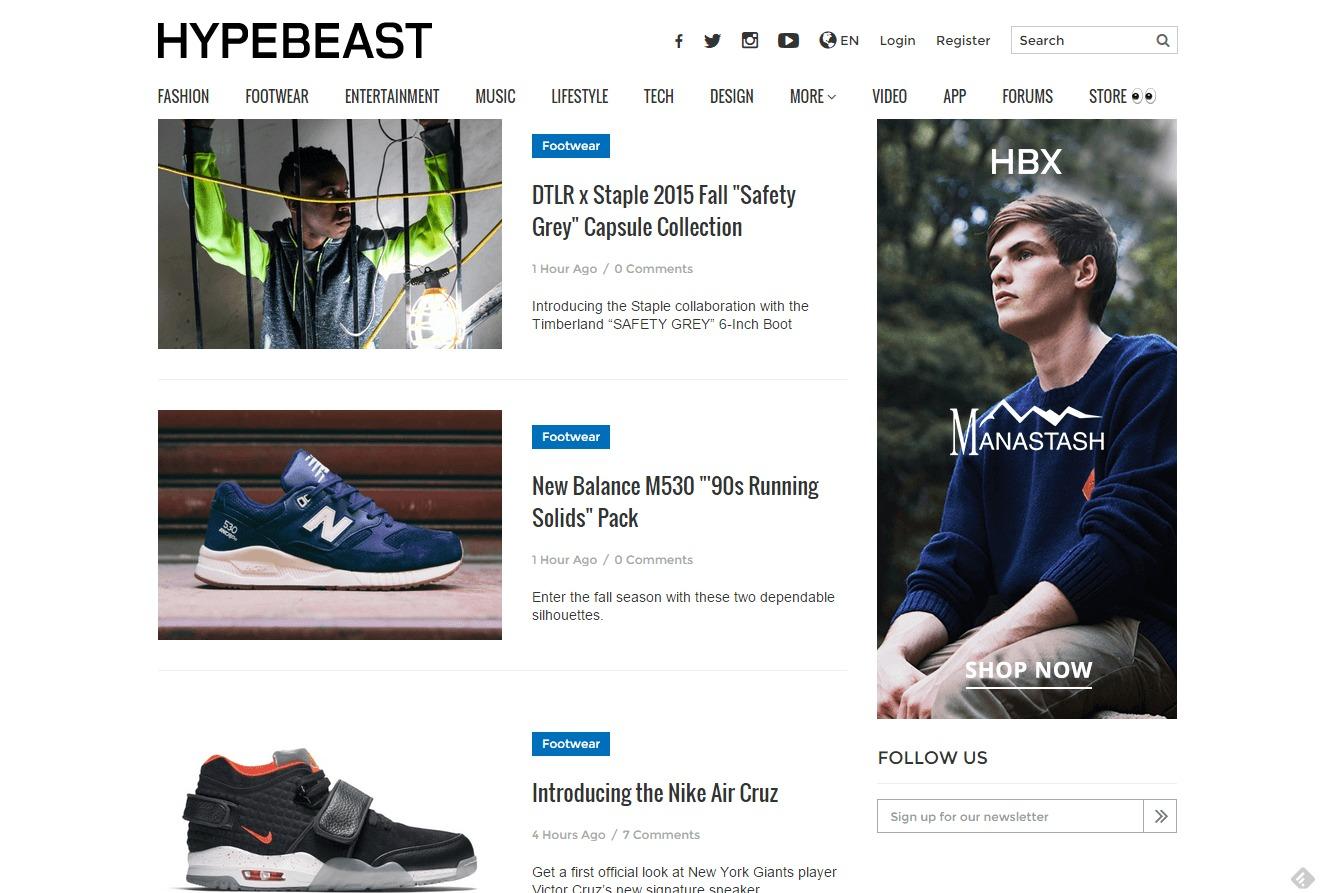 hypebeast blogs shoe