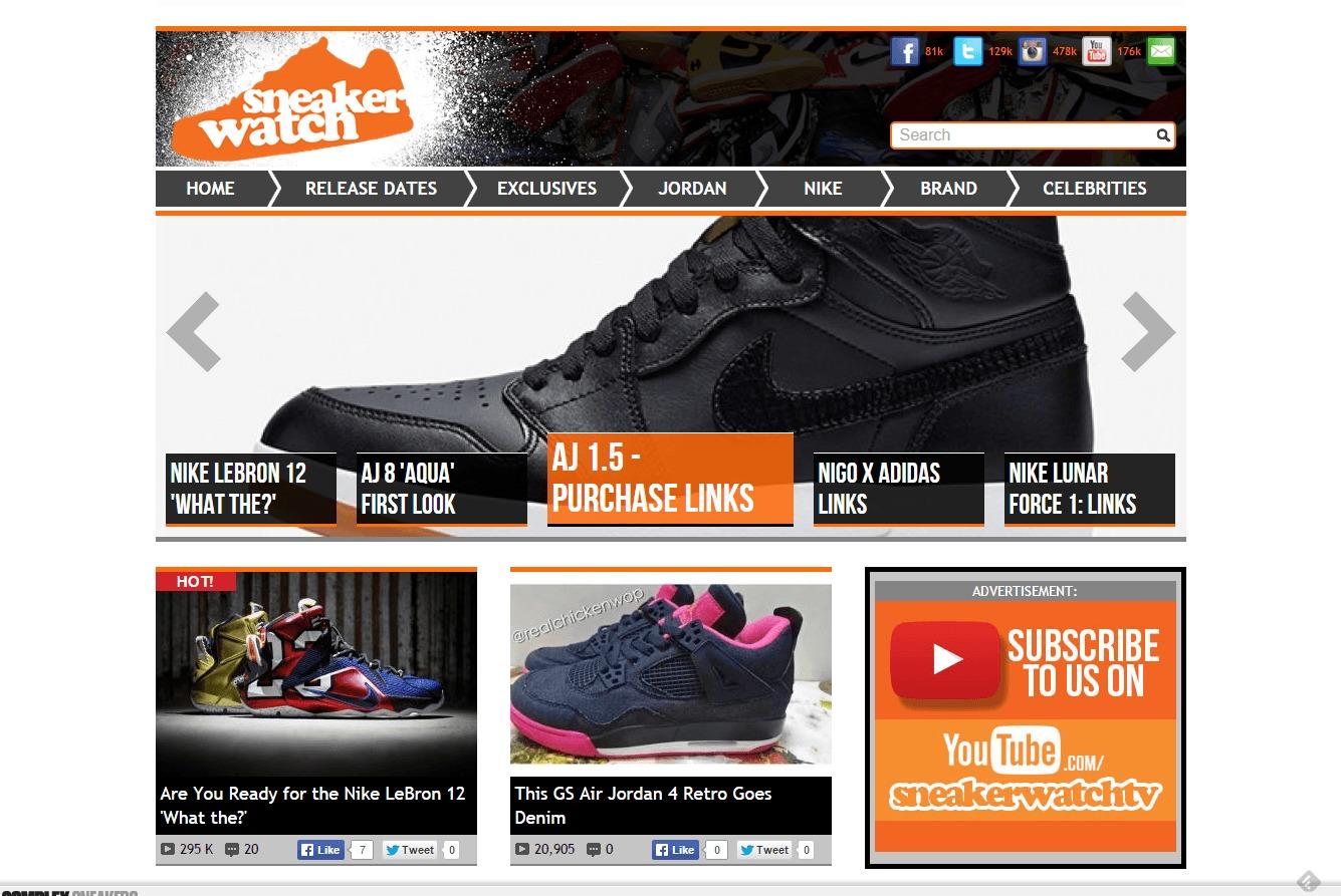 sneaker watch blogs shoe