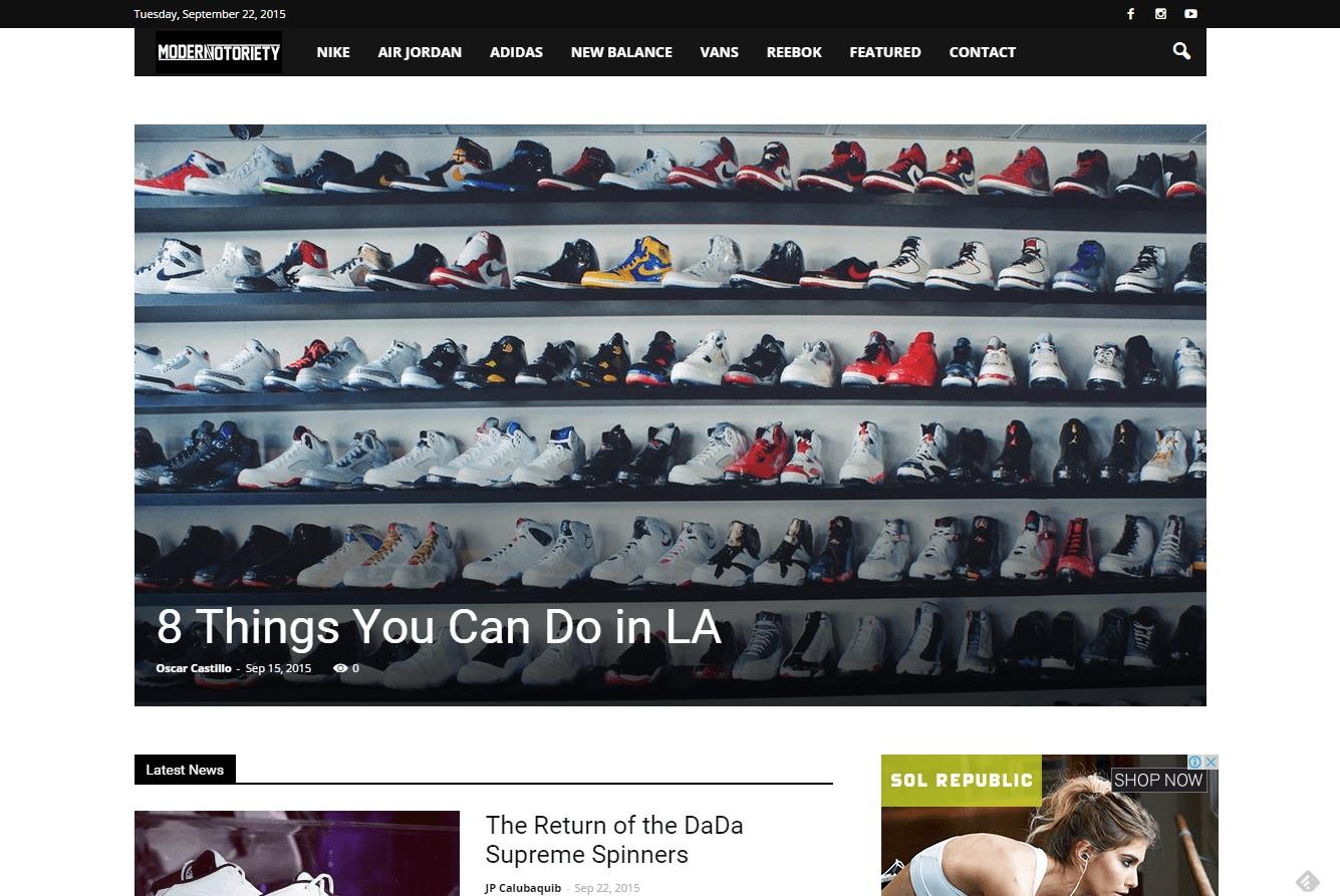 modern notoriety blogs shoe