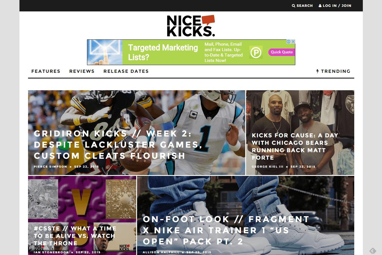 nice kicks blogs shoe