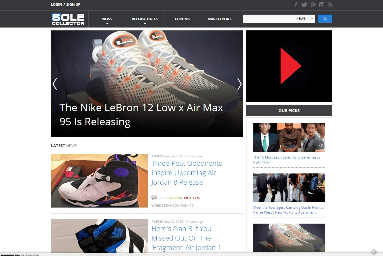 sole collector blogs shoe