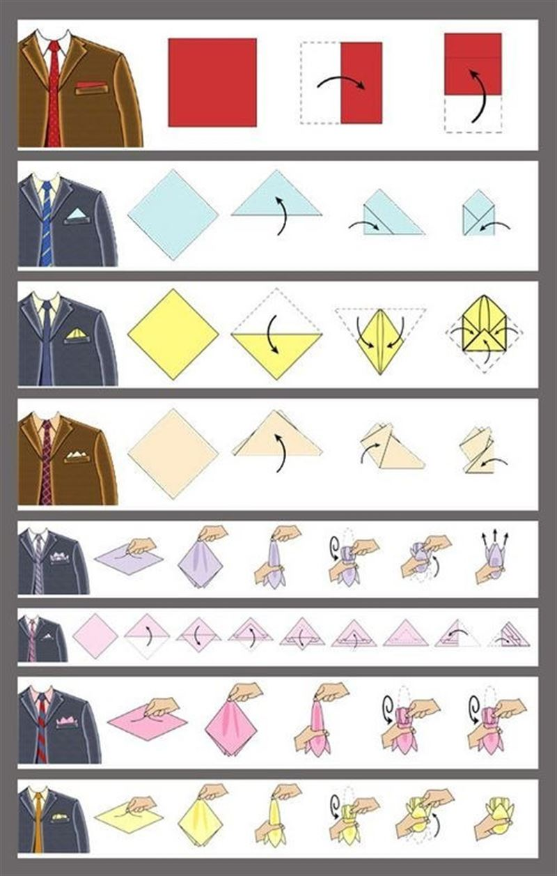 how to fold a pocket square step by step