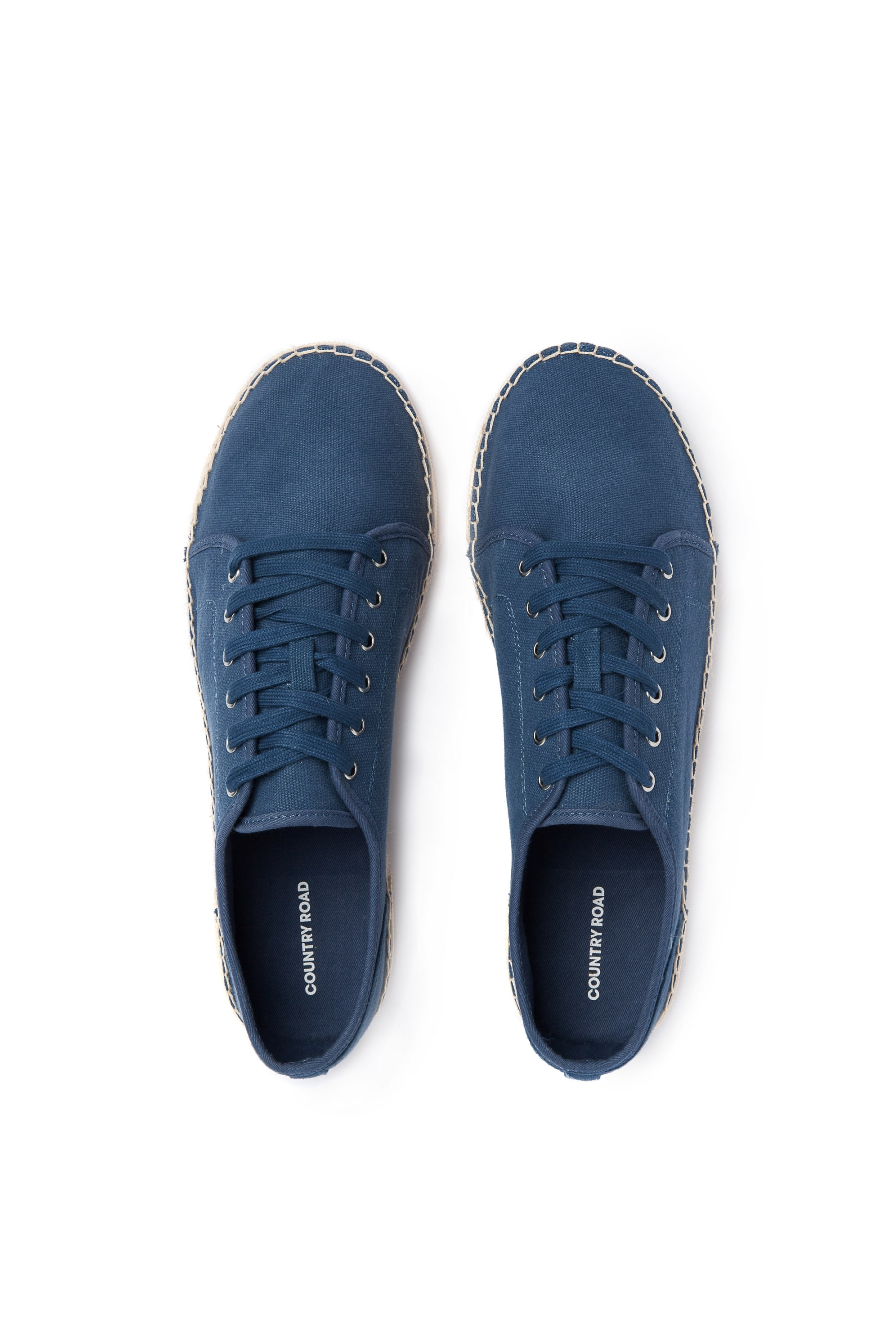 country road washed blue sneakers