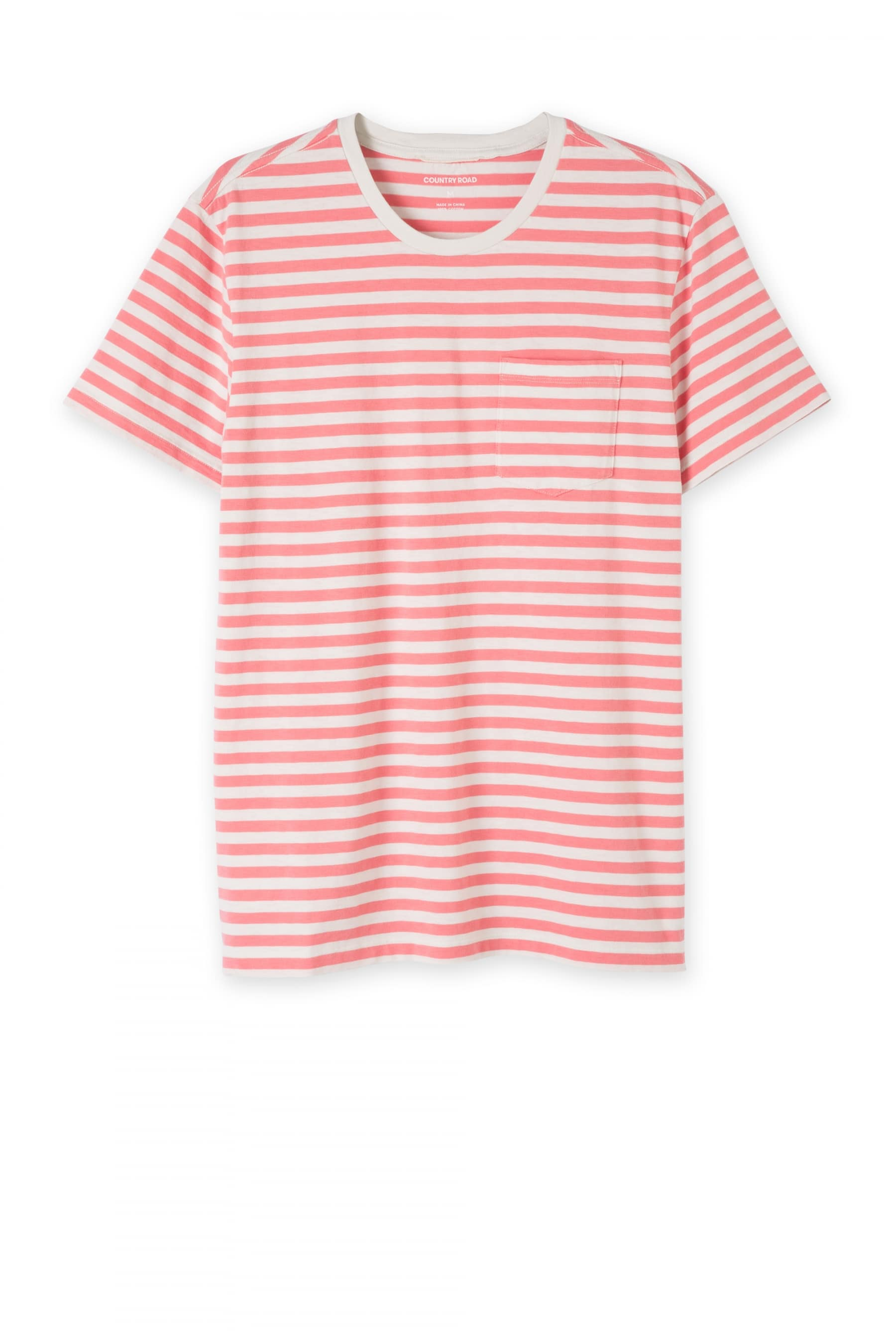 country road coral red t shirt