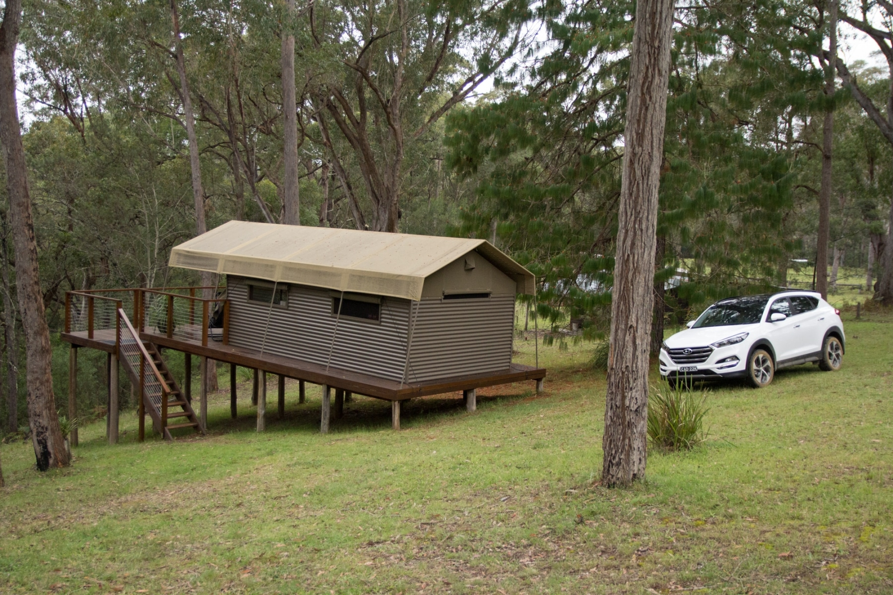 glamping luxury meets car standing