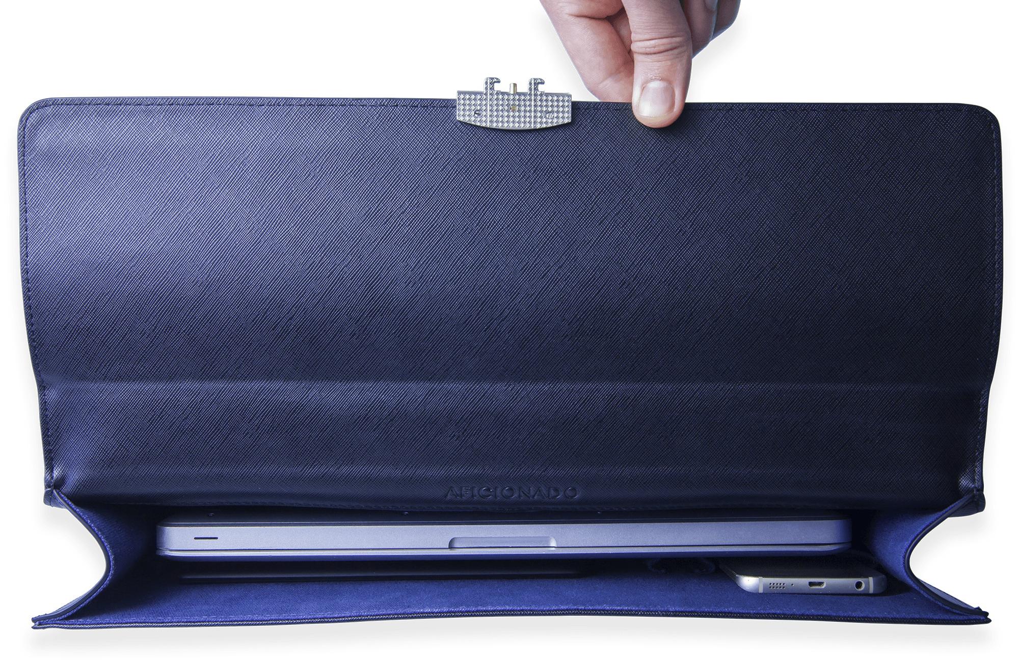 aficionado briefcase interior