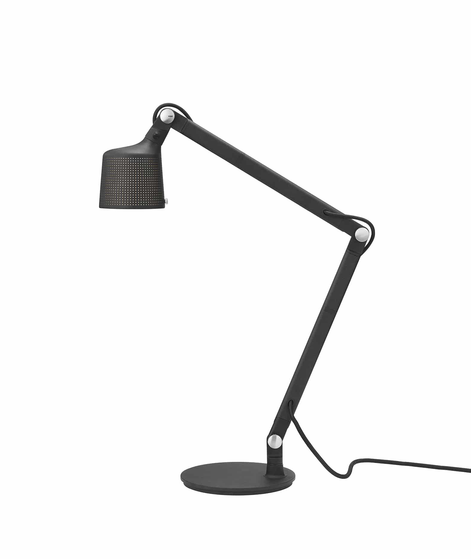 vipp black table lamp press low