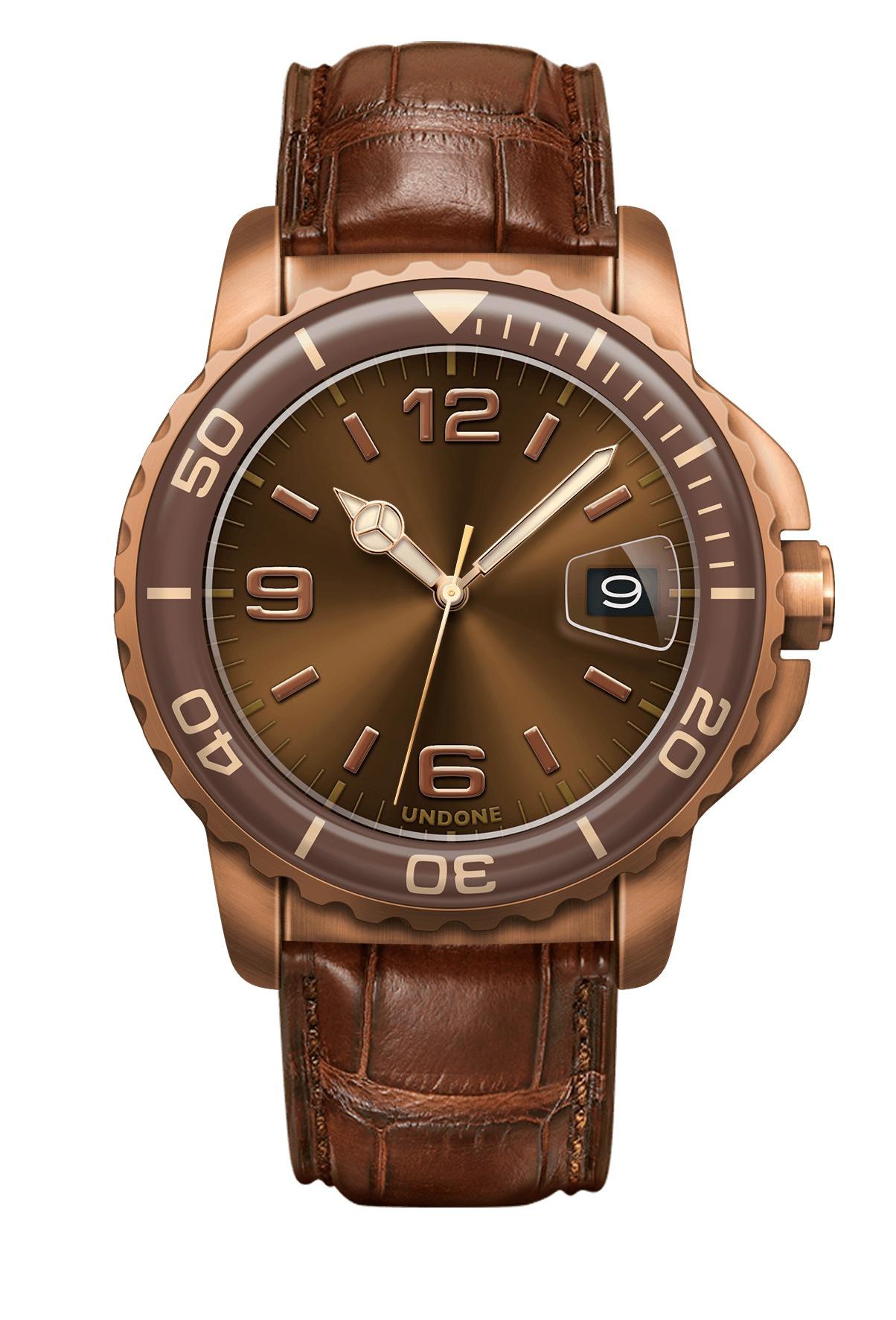 undone rose gold watch