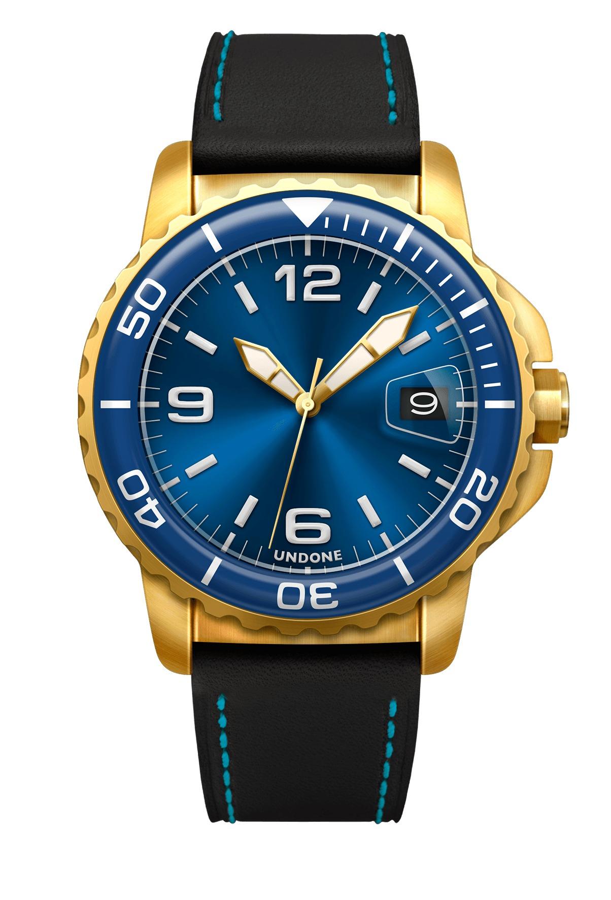 undone blue gold watch