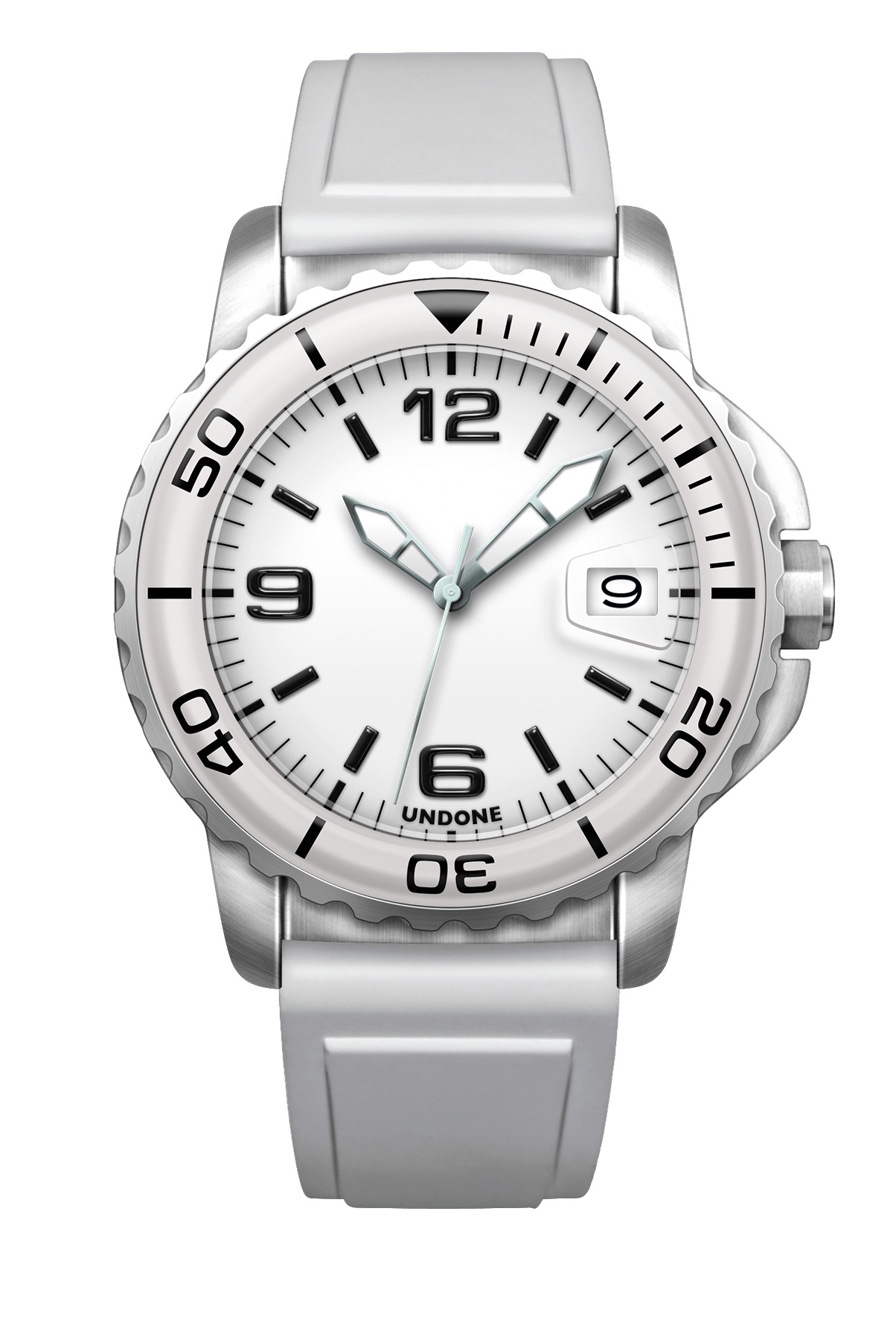 undone white color watch