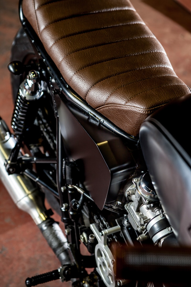 macco motors triumph bonneville se motorcycle seat