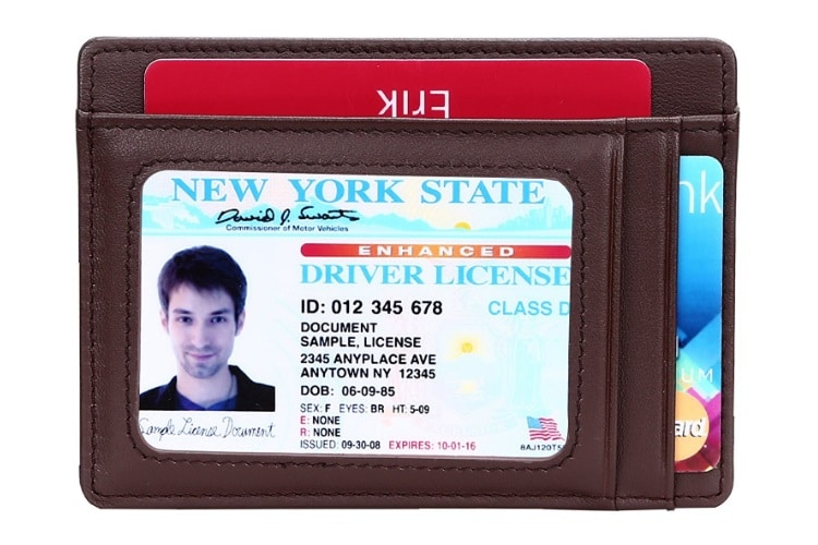 Case Driver/'s license Part/'identity Leather Man Woman