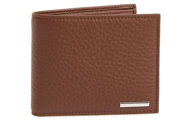 Ermengegildo Zegna 'Hamptons' Textured Leather Bifold Wallet