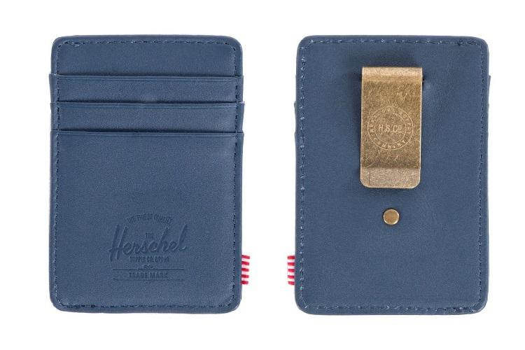 herschel supply co raven leather wallet