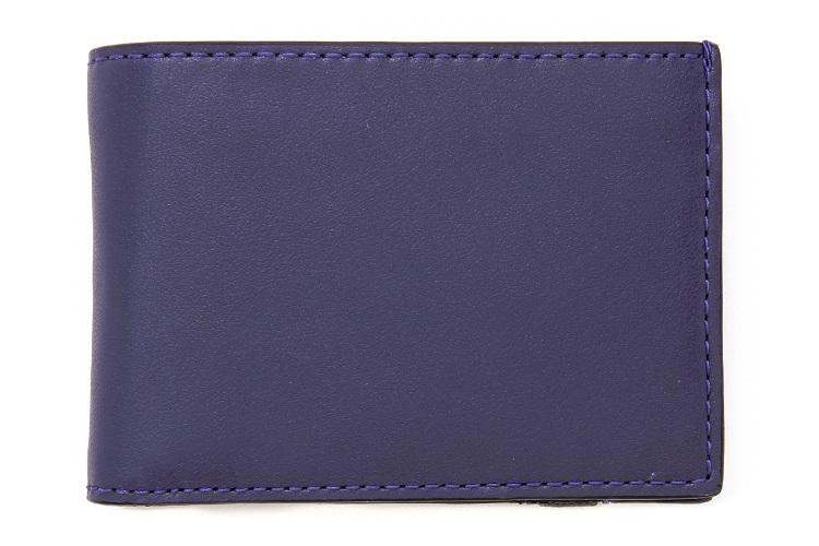 jack spade bicolor index wallet with elastic