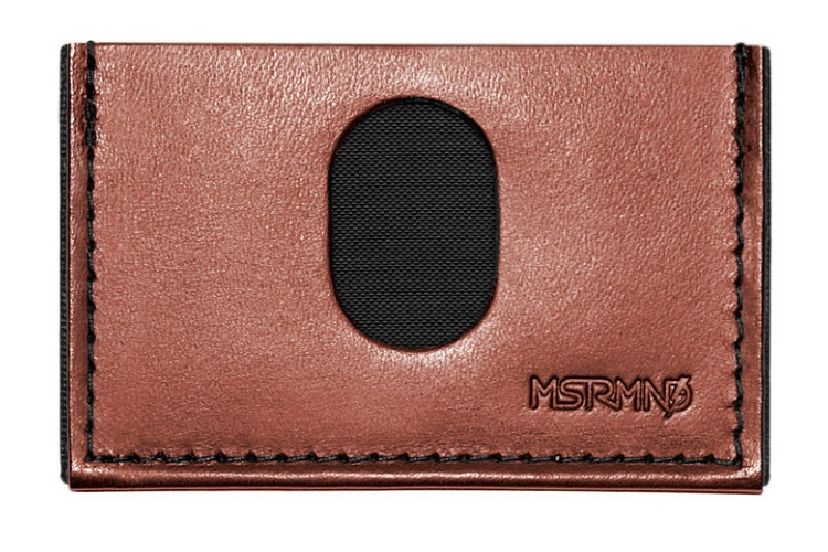 mstrmnd brown slimplistic wallet