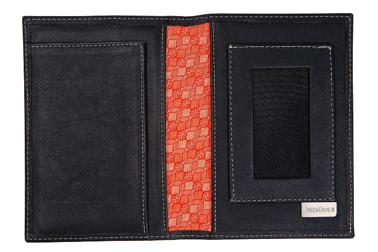 Pineda Covalin Black Passport Case