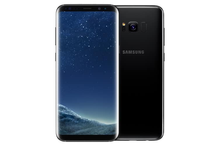 samsung galaxy s8+ front and back view