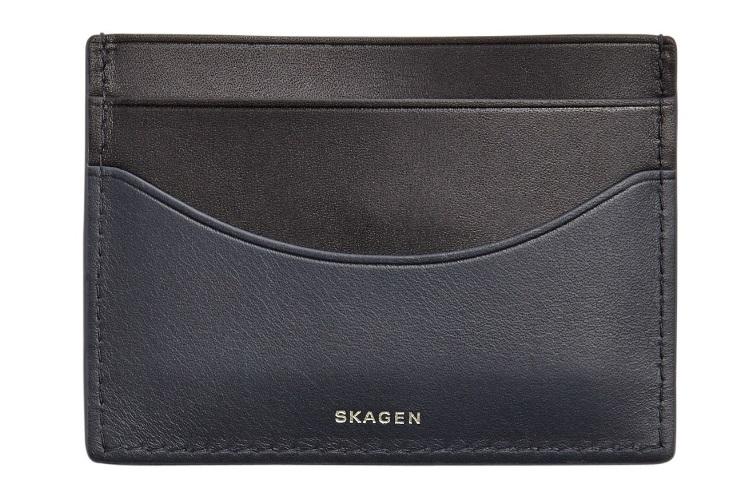 skagen torben leather card case